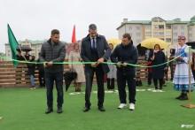 Открытие мини-футбольной площадки